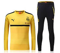 Спортивный костюм Puma, Боруссия Дортмунд (желтый). Футбольный, тренировочный. Сезон 16/17