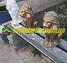 Лев из бетона сидящая фигура у входа, бетонная скульптура (статуя) для столбов ворот и забора.