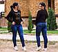 Женские стильные джинсы в больших размерах 11170, фото 2