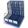 Лоток вертикальный на 3 секции черный синий серый TY668-01/638