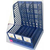 Лоток вертикальный на 3 секции черный синий TY668-01/638