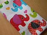 Лоскут ткани №300а   с индийскими слонами, фото 2