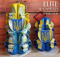 Набор свечей с гербом Украины, ручная работа