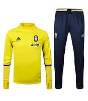 Спортивный костюм Adidas, Ювентус (желтый). Футбольный, тренировочный. Сезон 16/17 (реплика)