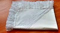 Кружевная крыжма для крещения из натуральной хлопковой ткани