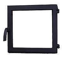 Чугунная печная дверца со стеклом -VVK 40.5х39см/36х35см