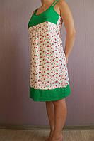 Женская ночная сорочка для девушек комбинированная трикотаж рибана