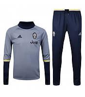 Спортивный костюм Adidas, Ювентус (серый). Футбольный, тренировочный. Сезон 16/17 , фото 1