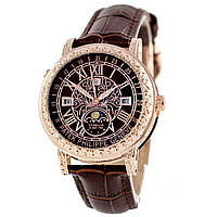Астрономические часы Patek Philippe Grand Complications 6002 Sky Moon Tourbillon - цвет золото с коричневым, фото 1