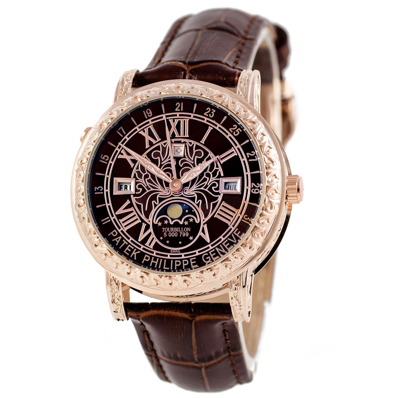b74a6701 Астрономические часы Patek Philippe Grand Complications 6002 Sky Moon  Tourbillon - цвет золото с коричневым