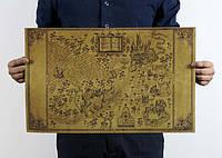 Волшебная карта Гарри Поттера замок Хогвардс, фото 1