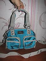 Голубая тканевая сумка Catwalk