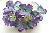 Декоративная Гортензия из ткани Мятно-фиолетовая 17 см 1 шт