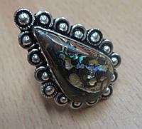 """Экзотическое кольцо с болдер опалом """"Шамбала"""", размер 17,5 от Студии  www.LadyStyle.Biz, фото 1"""