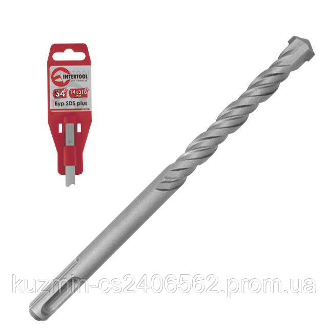 Бур SDS PLUS S4 6*160мм INTERTOOL SD-0616