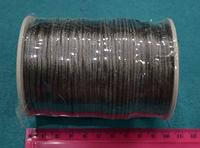 Атласный шнур 2,5 мм серый 20266