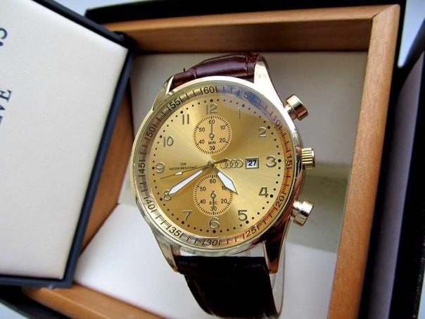 Часы мужские наручные Audi золото 2d8545a6bc8af