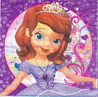 Салфетки Принцесса София  20 штук