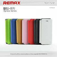 Чехол для iPhone 5/5s/SE Remax Flip Dual Use золото/зеленый TPU