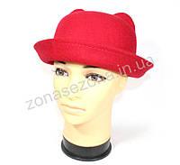Женская шляпа фетровая с ушками красная