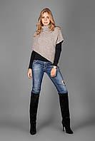 Стильная накидка-свитер с хомутом