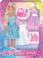 Кукла Ася Блестящий стиль; 28 см; блондинка; вариант 1