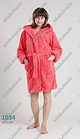 Женский махровый халат средней длины 44-50 размеры