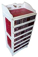 Белый комод с тибетским орнаментом