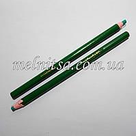 Карандаш для ткани, исчезающий, 1шт. цвет зеленый