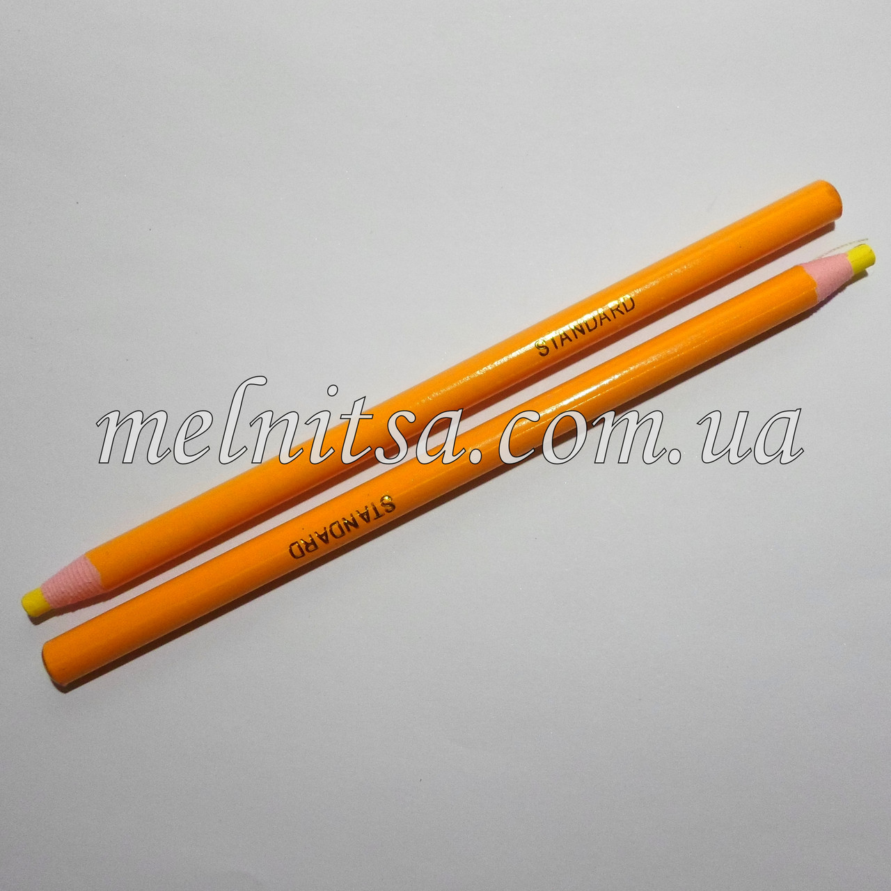 Карандаш для ткани, исчезающий, 1шт. цвет желтый