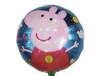 Воздушный фольгированный шарик Свинка Пеппа