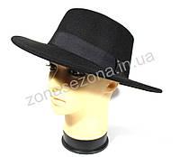 Женская шляпа канотье черная