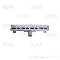 Трап линейный нержавеющая сталь 70х400 5072 Nova (Турция)