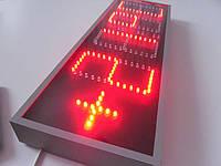 Cветящиеся уличные часы термометр яркие красного цвета