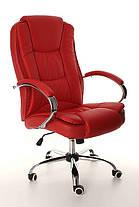 Офисное кожанное кресло MIDO красное, фото 2