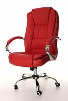 Офисное кожанное кресло MIDO красное, фото 3