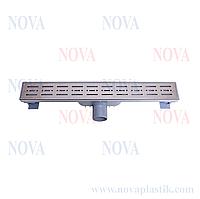 Трап линейный нержавеющая сталь 70х500 5073 Nova (Турция)