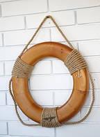 Деревянный Спасательный круг ручной работы. Подарок в морском стиле