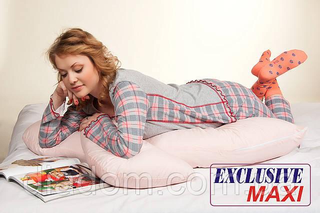 Подушка для беременных Maxi Exclusive, Лежа на животе