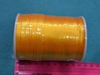 Атласный шнур 2,5 мм жёлтый  20276