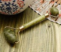 Массажер нефритовый валик двойной гладкий (14х5,5х2 см)