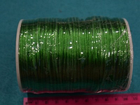 Атласный шнур 2,5 мм зелёный 20280