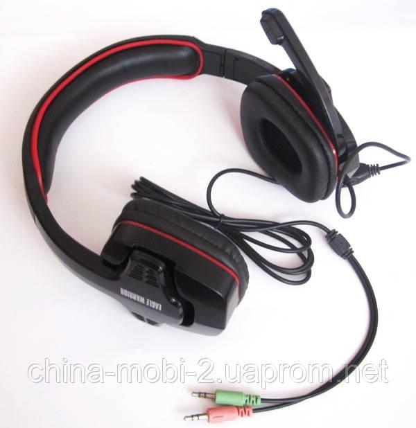 Динамические наушники Eagle Warrior 501  микрофон +регулятор громкости
