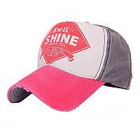Кепка бейсболка Shine Красно-серая, Унисекс