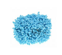 Тычинки пенопластовые Голубые 3 мм на нитке 25 шт/ пучок