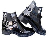 Ботинки лаковые  женские р36-41
