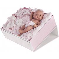 Кукла пупс PITUS 26 см в чемоданчике с одеждой Antonio Juan 4068