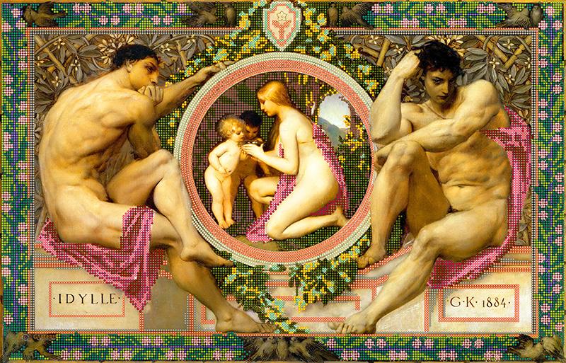 Схема для вишивки бісером POINT ART Ідилія, розмір 51,5х33 см