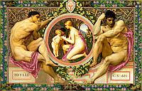 Схема для вышивки бисером POINT ART Идилия, размер 51,5х33 см
