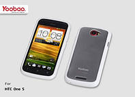 Yoobao 2 in 1 Protect case for HTC One S Z320e, white (TPUHTCONES-WT)